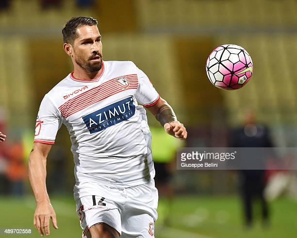 Marco Borriello of Carpi in action during the Serie A match between Carpi FC and SSC Napoli at Alberto Braglia Stadium on September 23 2015 in Modena...