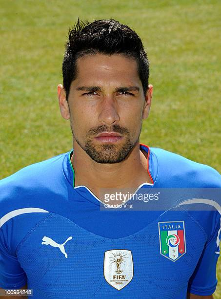 Marco Borriello of Italy poses during the official Fifa World Cup 2010 portrait session on May 26 2010 in Sestriere near Turin Italy