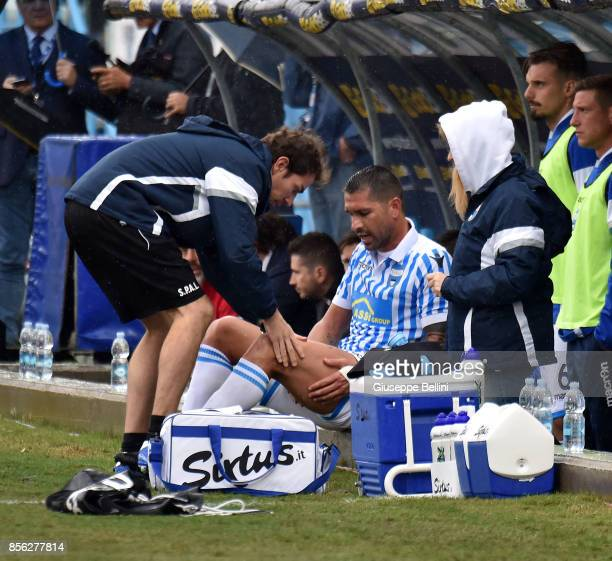 Marco Borriello of Spal during the Serie A match between Spal and FC Crotone at Stadio Paolo Mazza on October 1 2017 in Ferrara Italy