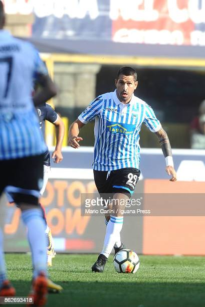 Marco Borriello of Spal in action during the Serie A match between Bologna FC and Spal at Stadio Renato Dall'Ara on October 15 2017 in Bologna Italy