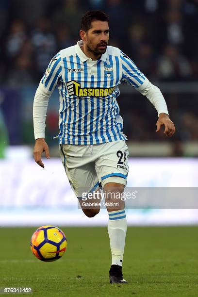 Marco Borriello of Spal in action during the Serie A match between Spal and ACF Fiorentina at Stadio Paolo Mazza on November 19 2017 in Ferrara Italy