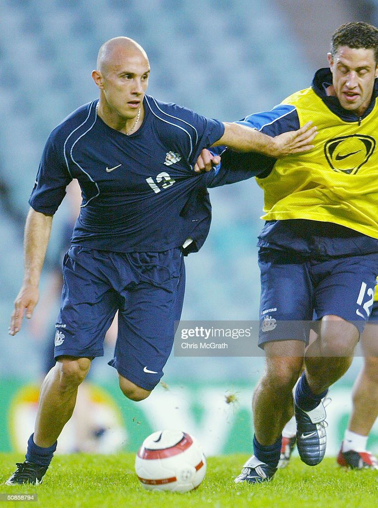 Marco Bresciano of the Socceroos in action during Australian Socceroos training held at Aussie Stadium, May 20, 2004 in Sydney Australia.