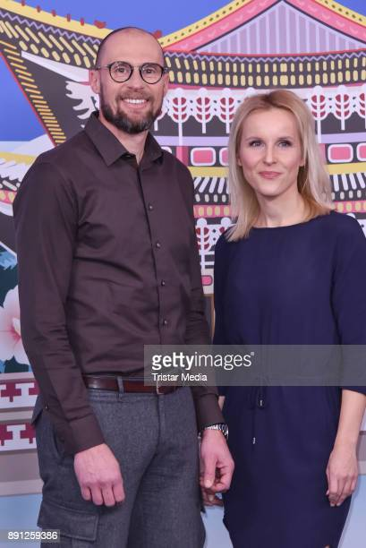 Marco Buechel and Katja Streso during the Olympia Press Conference on December 12 2017 in Berlin Germany