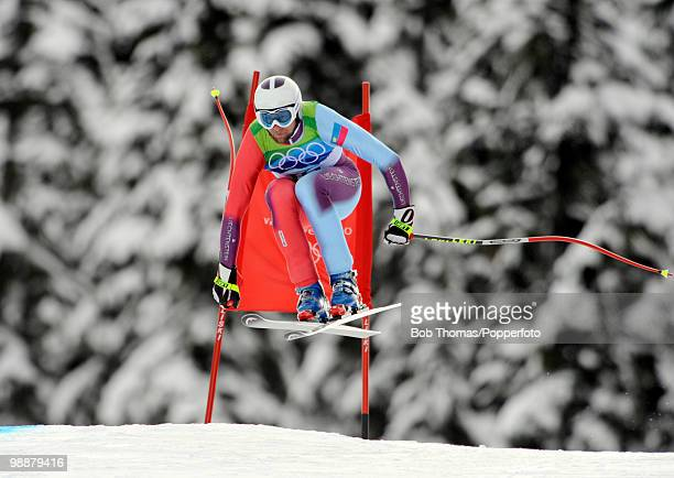 Marco Buechel of Liechtenstein competes in the Alpine skiing Men's Downhill at Whistler Creekside during the Vancouver 2010 Winter Olympics on...