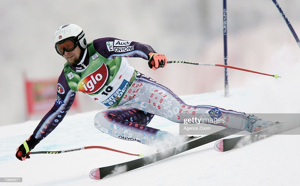 Marco Buechel of Liechtenstein competes on his way to taking 6th place during the FIS Skiing World Cup Men's Super-G on December 20, 2006 in Hinterstoder, Austria.