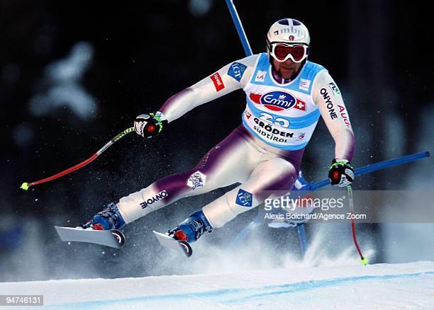 Marco Buechel of Liechtenstein during the Audi FIS Alpine Ski World Cup Men's Super G on December 18 2009 in Val Gardena Italy