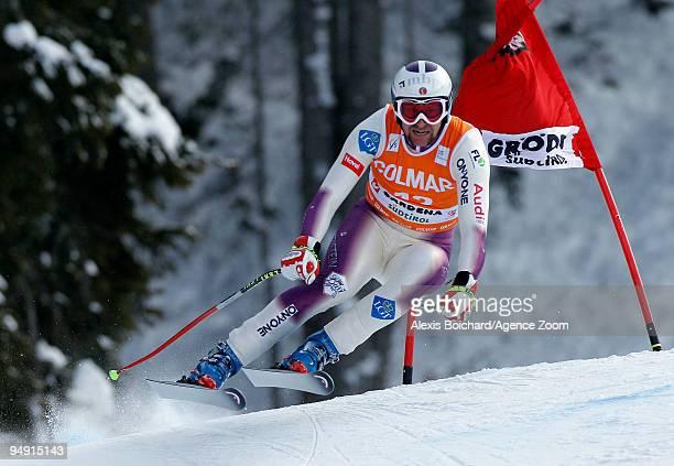 Marco Buechel of Liechtenstein during the Audi FIS Alpine Ski World Cup Men's Downhill on December 19 2009 in Val Gardena Italy