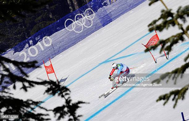 Marco Buechel of Liechtenstein during the men's alpine skiing SuperG on day 8 of the Vancouver 2010 Winter Olympics at Whistler Creekside on February...