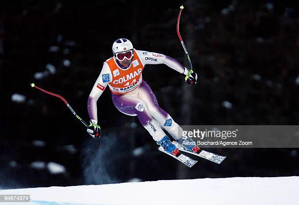 Marco Buechel of Liechtenstein skis during the Audi FIS Alpine Ski World Cup Men's Downhill Training on December 17 2009 in Val Gardena Italy