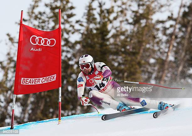 Marco Buechel of the USA competes during the Men's Alpine World Cup Downhill final on the Birds of Prey course on December 5 2009 in Beaver Creek...