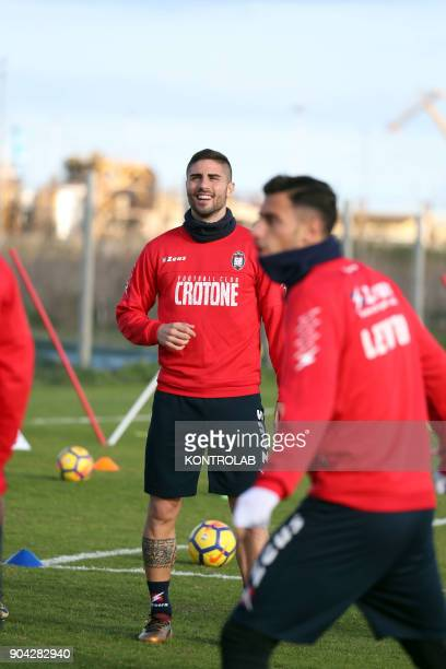 Marco Capuano defender just bought by FC Crotone during his first training in his new team