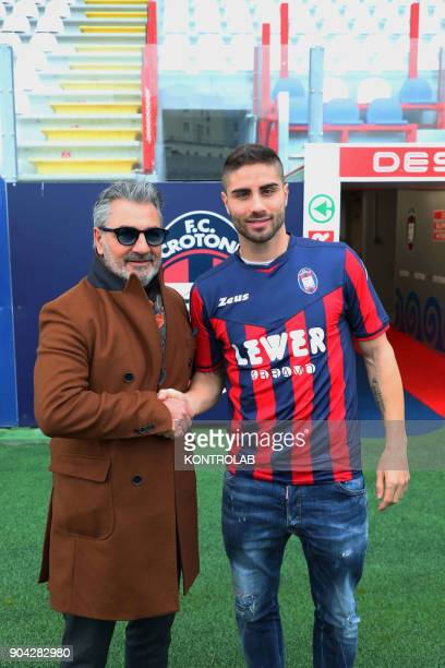 Marco Capuano defender just bought by Fc Crotone with President Gianni Vrenna