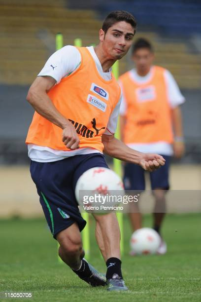 Marco Capuano of Italy in action during an Italian U-21 training session at Stade de Bon Rencontre on June 2, 2011 in Toulon, France.