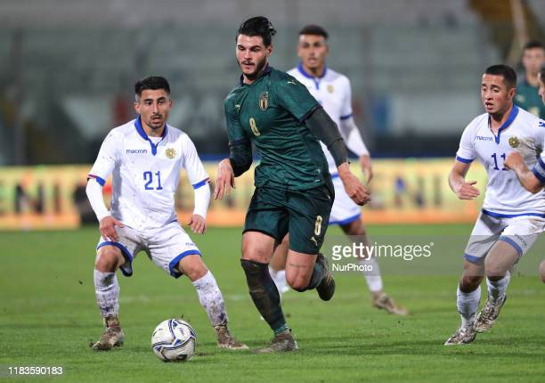 Marco Carraro of Italy during the UEFA U21 European Championship Qualifier match between Italy and Armenia at Stadio Angelo Massimino on November 19,...