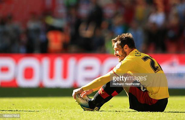Marco Cassetti of Watford looks dejected in defeat after the npower Championship Play-off Final match between Watford and Crystal Palace at Wembley...