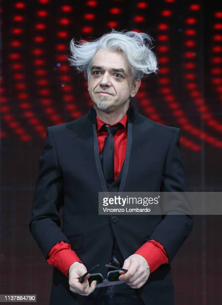 Marco Castoldi alias Morgan attends a photocall to launch The Voice of Italy 2019 on April 18 2019 in Milan Italy