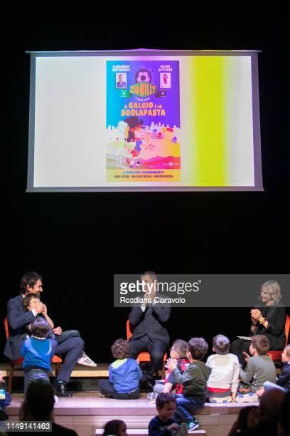 Marco Cattaneo Alessandro Costacurta Aka Billy and Anna Billo' attend presention of the book Zio Billy e i suoi amici Il calcio e lo scolapasta at...