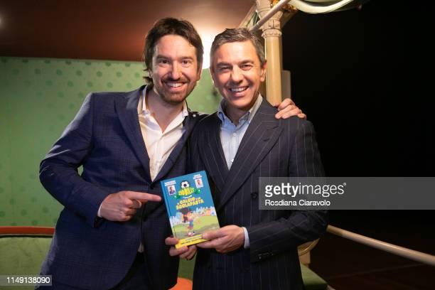 Marco Cattaneo and Alessandro Costacurta Aka Billy present new book Zio Billy e i suoi amici Il calcio e lo scolapasta at Teatro Gerolamo on May 14...