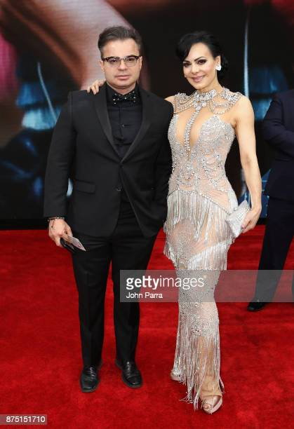 Marco Chacon and Maribel Guardia attend The 18th Annual Latin Grammy Awards at MGM Grand Garden Arena on November 16 2017 in Las Vegas Nevada