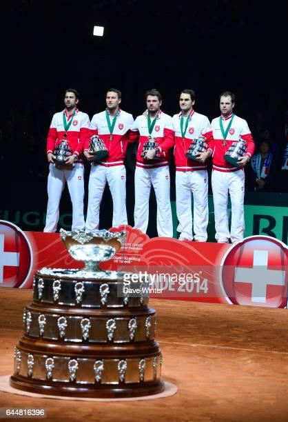 Marco CHIUDINELLI / Michael LAMMER / Stanislas WAWRINKA / Roger FEDERER / Severin LUTHI - - France / Suisse - Finale Coupe Davis -, Photo : Dave...
