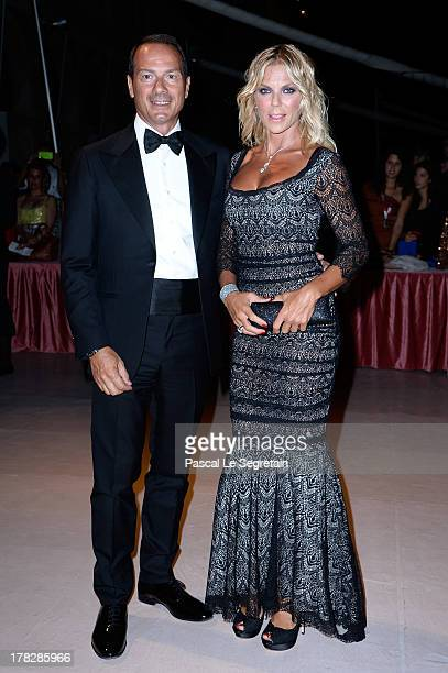Marco Costantini and Matilde Brandi attend the Opening Dinner Arrivals during the 70th Venice International Film Festival at the Hotel Excelsior on...