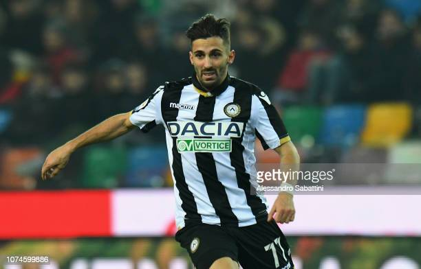 Marco D'Alessandro of Udinese Calcio in action during the Serie A match between Udinese and Frosinone Calcio at Stadio Friuli on December 22 2018 in...