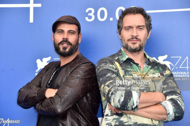 Marco D'Amore and Claudio Santamaria attend the 'Brutti E Cattivi' photocall during the 74th Venice Film Festival at Sala Casino on September 7, 2017...