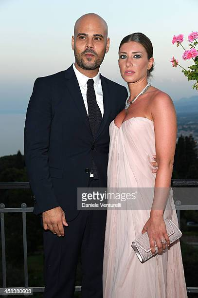 Marco D'Amore and Daniela Maiorana attend a cocktail party ahead of Nastri D'Argento on July 2, 2016 in Taormina, Italy.