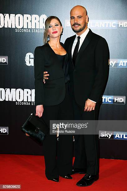 Marco D'Amore and Daniela Maiorana attend the Gomorra' Tv Show premiere at Teatro Dell'Opera on May 09, 2016 in Rome, .