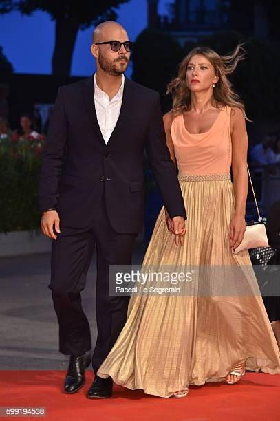 Marco D'Amore and Daniela Maiorana attend the Kineo Diamanti Award Ceremony during the 73rd Venice Film Festival on September 4, 2016 in Venice,...
