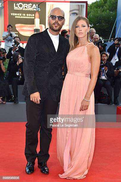 Marco D'Amore and Daniela Maiorana attend the premiere of 'The Young Pope' during the 73rd Venice Film Festival at on September 3, 2016 in Venice,...