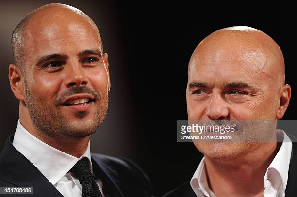 Marco d'Amore and Luca Zingaretti attend 'Perez' Premiere during the 71st Venice Film Festiva on September 5 2014 in Venice Italy