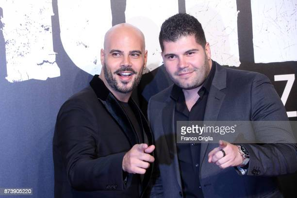 Marco D'Amore and Salvatore Esposito attend the 'Gomorra' premiere on November 13, 2017 in Rome, Italy.