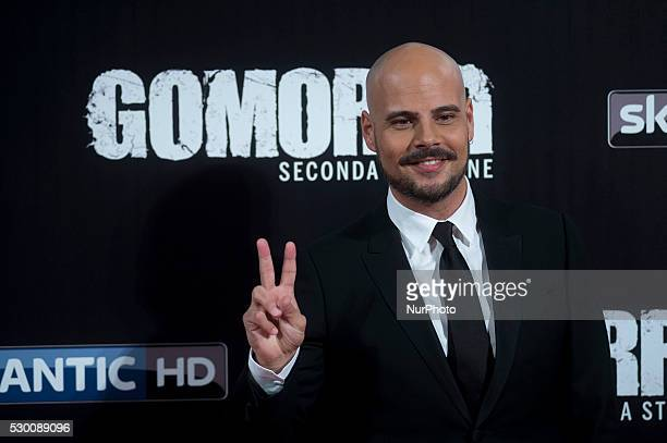 Marco D'Amore attends the 'Gomorra 2 - La serie' on red carpets at The Teatro dell'Opera in Rome, Italy on May 10, 2016.