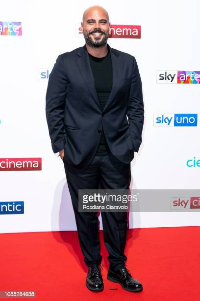 Marco D'Amore attends the Sky Show Schedule Presentation at Palazzo Del Ghiaccio on October 29, 2018 in Milan, Italy.