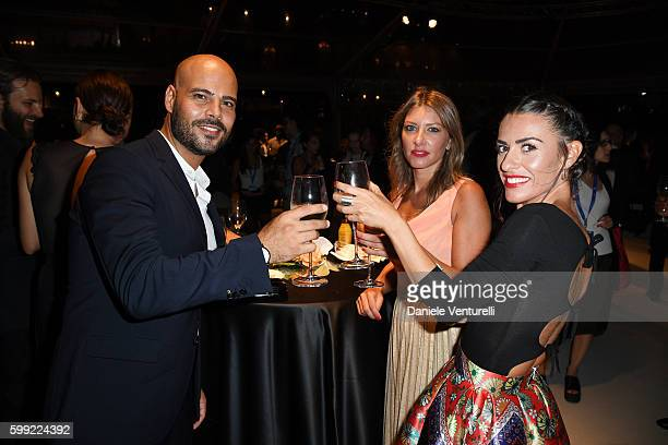 Marco D'Amore, Daniela Maiorana and Roberta Pitrone attend the Kineo Diamanti Award Ceremony during the 73rd Venice Film Festival on September 4,...