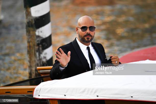 Marco D'Amore is seen arriving at the Excelsior during the 77th Venice Film Festival on September 04, 2020 in Venice, Italy.