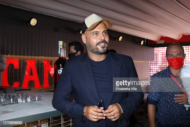 Marco D'amore is seen at Campari lounge during Venice Film Festival at on September 05, 2020 in Venice, Italy.