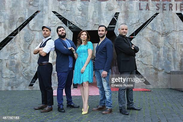Marco D'Amore, Salvatore Esposito, Maria Pia Calzone, Marco Parvetti and Fortunato Cerlino attend the 'Gomorra - La Serie' photocall at The Space...