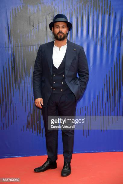 Marco D'Amore walks the red carpet ahead of the 'Brutti E Cattivi' screening during the 74th Venice Film Festival at Sala Darsena on September 7,...