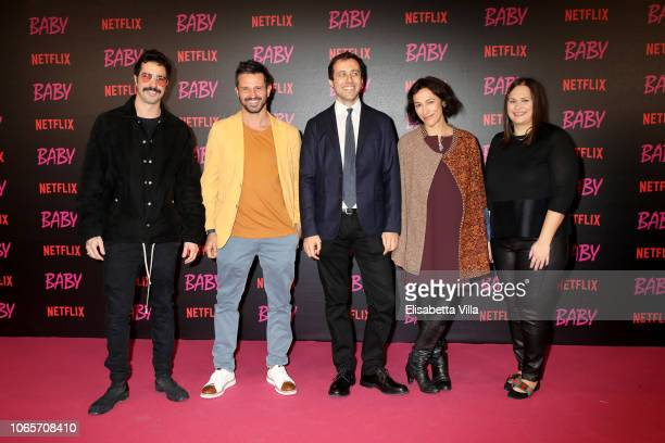 Marco De Angelis Nicola De Angelis Andrea De Sica Anna Negri and Netflix Vice President of Original Series Kelly Luegenbiehl attend the World...
