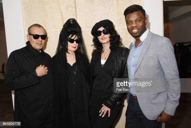 Marco de Rivera Diane Pernet SylvieOrtega Munos and Jean Barthelemy Bokassa attend the 'Bel RP' 10th Anniversary at Atelier Sevigne on April 10 2018...