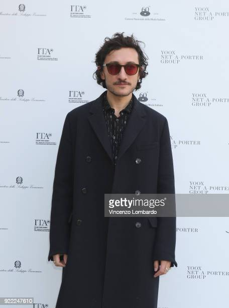 Marco De Vincenzo attends 'Italiana L'Italia Vista Dalla Moda 19712001' exhibition preview during Milan Fashion Week Fall/Winter 2018/19 at Palazzo...