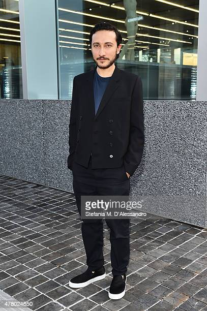 Marco de Vincenzo attends Prada Menswear Spring/Summer 2016 Cocktail Party at Fondazione Prada at Fondazione Prada on June 21 2015 in Milan Italy