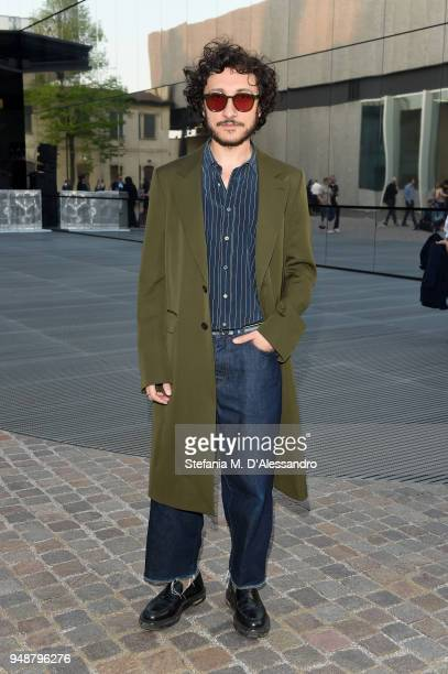 Marco De Vincenzo attends the opening event of Torre at Fondazione Prada on April 19 2018 in Milan Italy