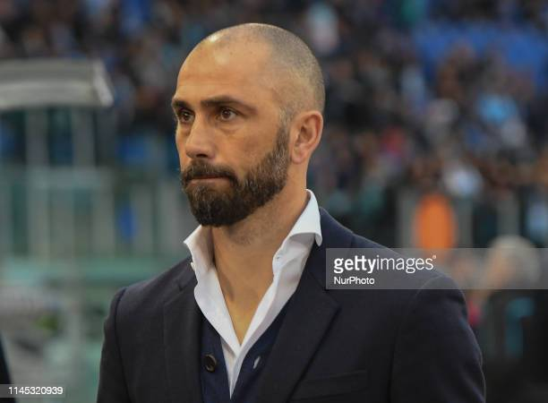 Marco Di Vaio during the Italian Serie A football match between SS Lazio and Bologna at the Olympic Stadium in Rome on may 20 2019