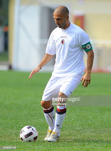 Marco Di Vaio of Bologna in action during pre season friendly match betwen Bologna and Molveno on July 15 2010 in Andalo Valtellino Italy