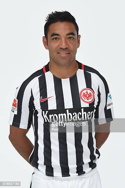 Marco Fabain poses during the Eintracht Frankfurt Team Presentation on July 21 2016 in Frankfurt am Main Germany