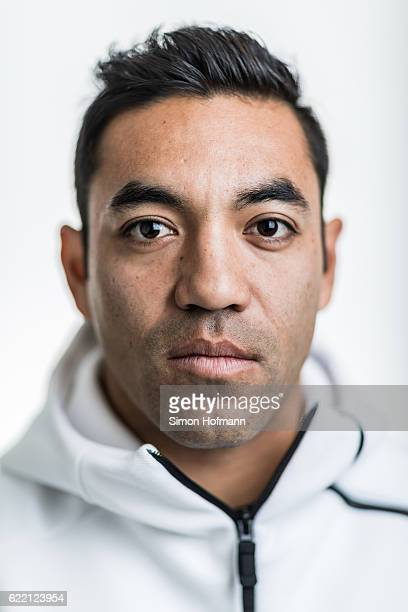 Marco Fabian of Eintracht Frankfurt poses during a Portrait Session on November 3 2016 in Frankfurt am Main Germany