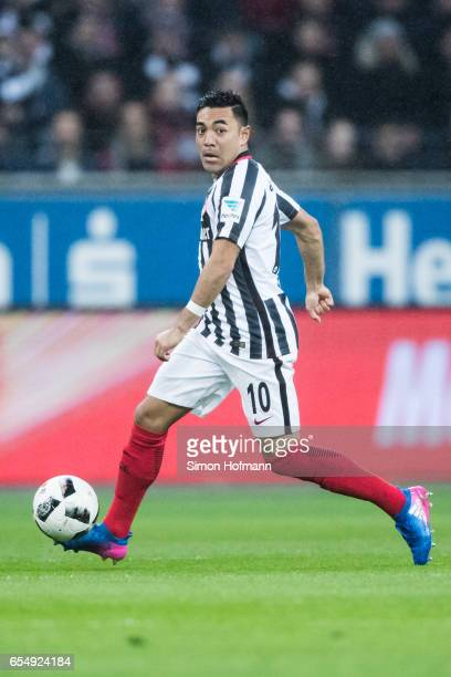 Marco Fabian of Frankfurt controls the ball during the Bundesliga match between Eintracht Frankfurt and Hamburger SV at CommerzbankArena on March 18...